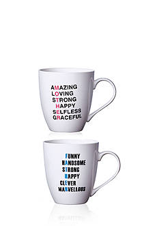 Pfaltzgraff Set of 2 18-oz. Mother and Father Mugs