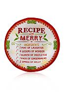 Pfaltzgraff Recipe for Merry Appetizer Plates,