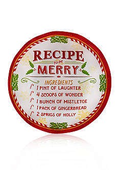 Pfaltzgraff Recipe for Merry Appetizer Plates, Set of 4