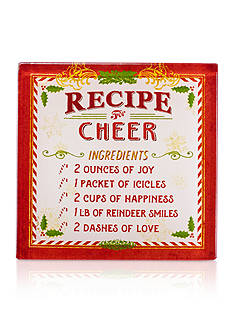 Recipe for Cheer Coasters, Set of 4