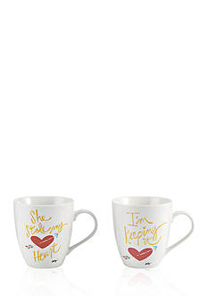 Pfaltzgraff 2-Piece She Stole My Heart, I'm Keeping It Mug Set