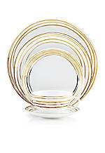 Swirl Gold 5-Piece Place Setting