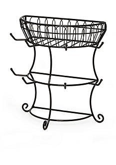 Mikasa Gourmet Basics Mug Tree with Basket