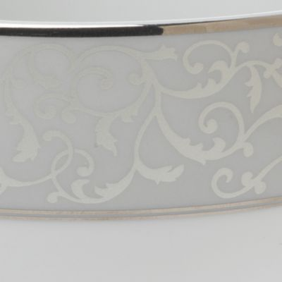 For the Home: Platinum Rimmed Sale: Gray Scroll Mikasa Parchment 5-Piece Place Setting