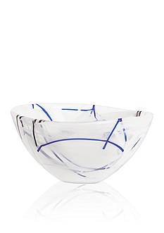 Kosta Boda White Contrast Small Bowl