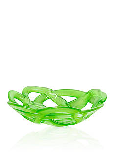 Kosta Boda Green Small Basket Bowl