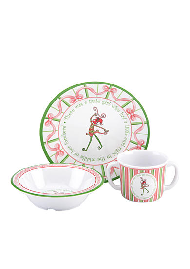 Gorham Merry-Go-Round Little Girl with a Curl 3-Piece Melamine Set