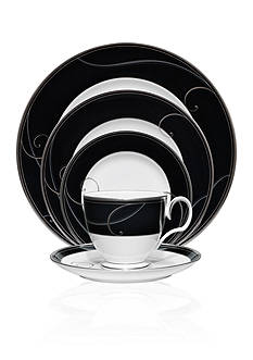 Noritake Platinum Wave Ebony Dinnerware