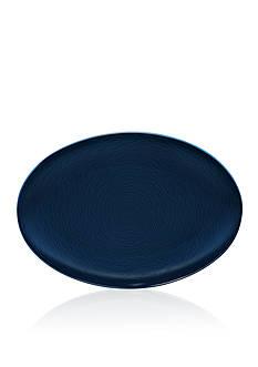 Noritake NoN (Navy-on-Navy) Swirl Oval Platter