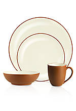 Colorwave Terra Cotta Coupe 4-Piece Place Setting