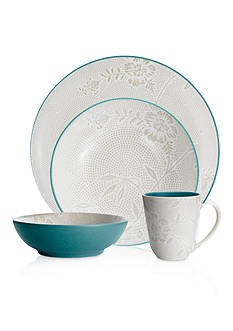Noritake Colorwave Bloom Turquoise 4-Piece Place Setting