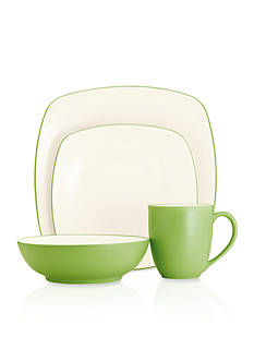 Noritake CLWV APPLE 4PP SQUARE:Multiple:PASTEL GRN
