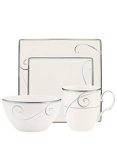 Noritake Platinum Wave Square 4-Piece Place Setting