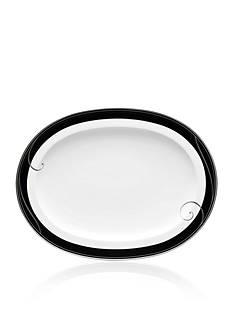 Noritake Platinum Wave Ebony Oval Platter