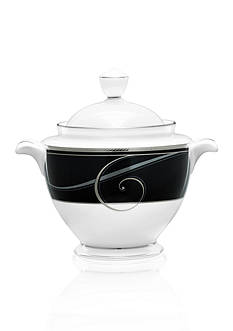 Noritake Platinum Wave Ebony Sugar w/ Cover