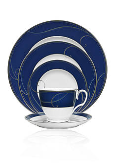 Noritake Platinum Wave Indigo 5-PC Place Setting