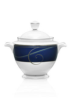 Noritake Platinum Wave Indigo Sugar w/ Cover