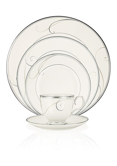 Platinum Wave Dinnerware