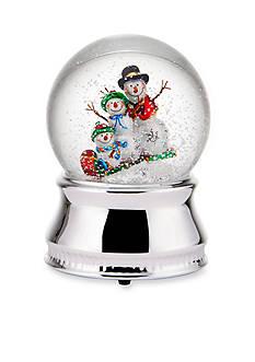 Towle Snowman Family Snow Globe