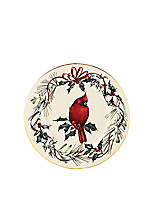 Winter Greetings Cardinal Accent Plate 9-in. dia.