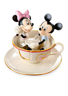 Lenox Teacup Twirl Mickey & Minnie Figurine - Online Only