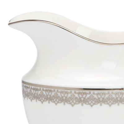For the Home: Platinum Rimmed Sale: White Lenox Lace Couture Creamer