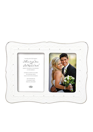 Lenox® Bliss Invitation Double 5x7 Frame