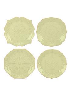 Lenox French Perle Pistachio Set of 4 Dessert Plates