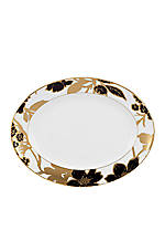 Minstrel Gold Oval Platter 13-in.