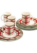 Lenox® Holiday Gatherings 12-Piece Plaid
