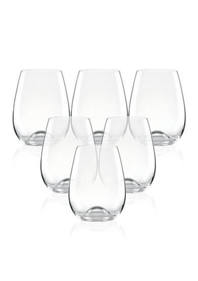 Lenox tuscany classics stemless wine glasses set of 6 belk - Lenox stemless red wine glasses ...