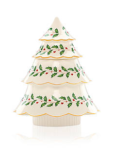 Lenox Holiday Tree Cookie Jar