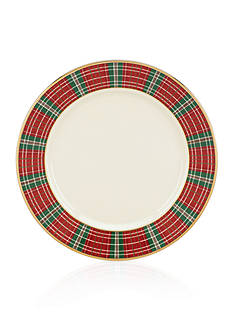 Lenox Winter Greetings Plaid Bread & Butter Plate