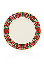Winter Greetings Plaid Bread & Butter Plate 6-in.
