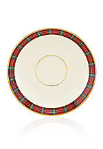 Winter Greetings Plaid Saucer 6-in. dia.