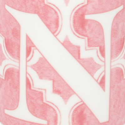 For The Home: Lenox Kitchen: N Lenox BM INITIAL MUG T - PINK