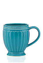 French Perle Groove Peacock All Purpose Mug 12-oz.