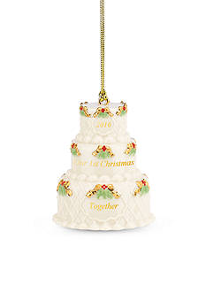 Lenox 2016 Our 1st Christmas Together Cake Ornament