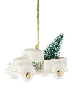 Lenox Holiday Truck with Tree Ornament