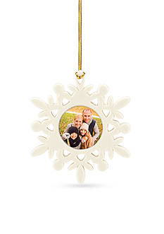 Lenox Cheerful Selfie Snowflake Frame Ornament