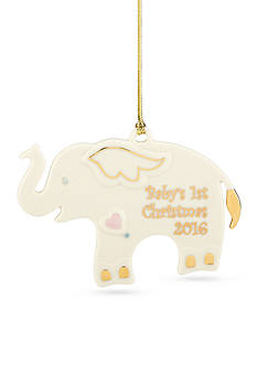 Lenox 2016 Baby's 1st Christmas Elephant Ornament