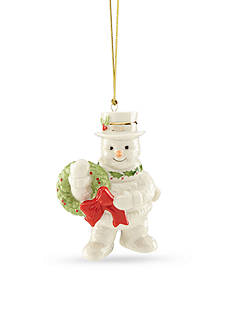 Lenox 2016 Happy Holly Days Snowman Ornament
