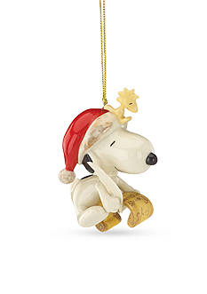 Lenox Snoopys List For Santa Ornament