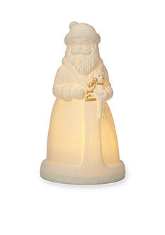 Lenox All Is Bright Lighted Santa Figurine