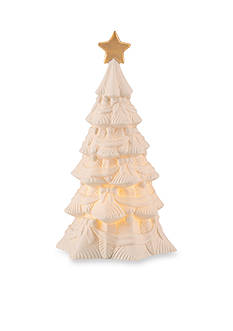 Lenox All Is Bright Lighted Christmas Tree Figurine