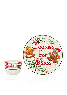 Lenox Countdown 'til Christmas 2-piece Cookies for Santa Set