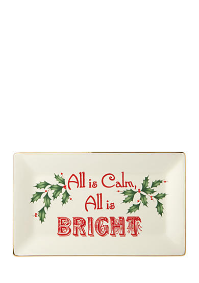 Lenox® Home for the Holidays All is Calm; All is Bright Tray