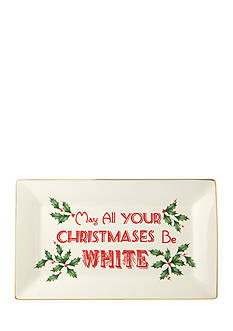 Lenox® Home for the Holidays 'May All Your Christmases Be White' Platter