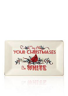 Lenox Winter Greetings 'May All Your Christmases Be White' Tray
