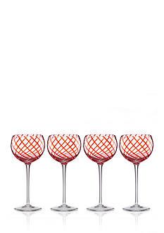 Lenox Holiday Jewel Balloon Wine Stems, Set of 4